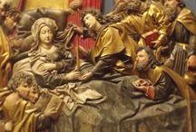 MAESTRO DELLA FRANCONIA, 1500 CIRCA: MORTE DELLA VERGINE / FREIBURG AM BRESGAU, MUSEUM FUR AUGUSTINER KUNZE