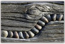 Holz und Stein