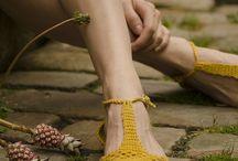 sapatos crochet