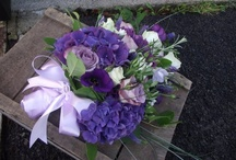 Colours (Purple and Blue Wedding Flowers) / Purple wedding flowers created and designed by www.bijouxfloral.co.uk