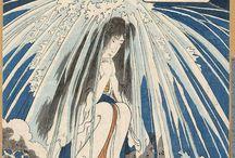 歌川国芳 Utagawa Kuniyoshi 02 / うたがわ くによし 寛政9年11月15日(1798年1月1日) - 文久元年3月5日(1861年4月14日)江戸時代末期の浮世絵師 画号は一勇斎。江戸時代末期を代表する浮世絵師の一人であり、画想の豊かさ、斬新なデザイン力、奇想天外なアイデア、確実なデッサン力を持ち、浮世絵の枠にとどまらない広範な魅力を持つ作品を多数生み出した。歌川広重とは同年の生まれであり、同時代に活動した。