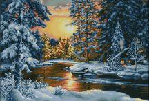 Cross Stitch - Landscape