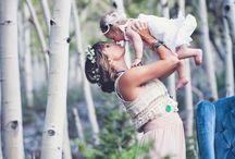 Peach and momma photo ideas