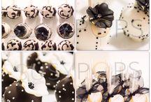 Elegant cake pops by SUSYPOPS / Black and White elegant and simple cake pops by SUSYPOPS