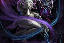 League Of Legends - Kindred / Illustration of Kindred from League of legends