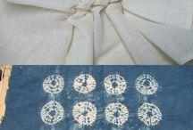 Shibori, batik, various textile techniques