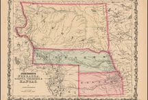 Nebraska Antique Maps / Antique maps of Nebraska show the dramatic changes in the states geographical and political situation over time. Vintage maps of Nebraska often show the growth of railroads, counties and cities in The State of Nebraska. Old maps of Nebraska, including antique maps of Omaha, Lincoln and Scottsbluff can be found here.