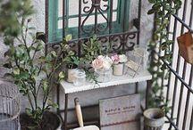 Miniatyr hage og utendørs