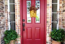red front door / by Sandy Huot