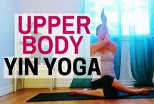 Yin yoga upper body
