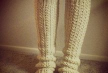 Crochet - wrist warmers and socks