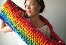 Uncinetto / Sciarpa multicolor
