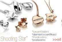 Kolekce Shooting Star - stříbrné šperky s diamanty / Shooting star Kolekce stříbrných šperků s diamanty. Decentní, elelgantní, rhodiované, stříbrné, s pravým diamantem, certifikát, luxusní balení...