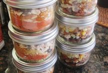 meals and mixes in jars