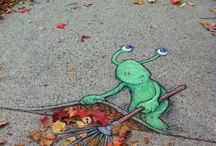 Bodenmalerei/Illusionen