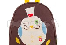 Colección The Family - Kiwisac / Una familia de búhos que te querrás llevar ya a casa!!! Bolso cambiador,mochilas, porta chupetes y muselina.