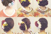 卒業式 (hairstyle, nails and make ups)