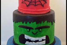 superhero cakes party