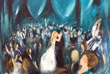 Live Wedding Painting / Live wedding paintings created on site during your celebration!   www.DelBroccoArt.com | Email me today for more info or to request a quote :) - jdelbro@gmail.com
