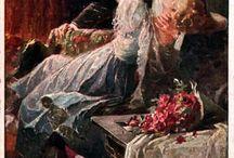 romantiques illustrations - vintage