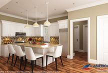 Exclusive Interior Renderings / A compilation of interior renderings for some of our most popular and best selling house plans.