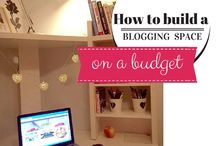 How to Create a Blogging Space on a Budget / I'd dreamed about a new blogging space for months. I'd pinned the pics! Now, I can pin my own. Here's how I created a home office on a budget.