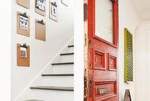 Türen an einer Treppe