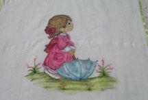 Pintura em tecido / Pintura em tecido Pano de copa, fraldas, toalhas