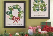 Weihnachtsbäume Handdruck 2