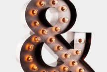 Litery z żarówkami: Marquee letters / East Lights - all about light!  http://eastlights.com/ #marquee #letters #eastlights.com #bulblights #cinemalightbox