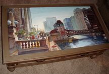 David R BeckerArt painted furniture