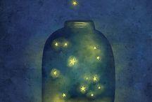 star moons & galaxies