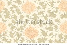 Design for a wallpaper and textile depicting a repeating pattern. PRINT. VECTOR. Background