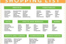 Shopping lists - Vegan diet