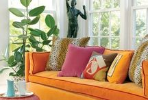 Colorful Spaces / Use color in your spaces.  Beige is boring. / by Barb Palmieri