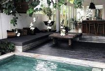 Patio et mini piscine