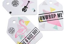 Gift tags   Swing tags / DIY gift tags made with stamps