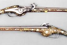 Militaria, broń palna / Pistolety kawaleryjskie zamek kołowy II połowa XVI w