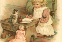 vintage obrázky panenky