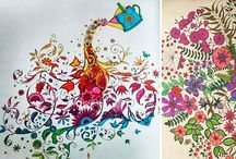 Johanna Basford secret garden / Coloring inspiration
