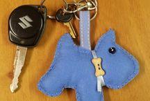 felt- keychain, brooch, bookmark...