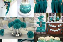 Teal Wedding / Teal was one of the hottest colors of 2013, let the beautiful color inspire your wedding decor.