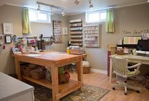 Craft Rooms, Storage and Tools / Lots of ideas for craft room designs, storage and DIY tools to help