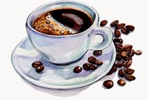 Coffee book illustrations