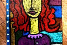 Portréty- pastel
