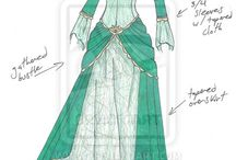 فساتين تاريخية. Historical dresses