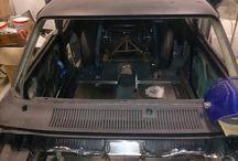 Ford Capri drag car / build pictures of customer's capri
