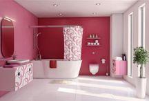 Pink Luxury Bathrooms Decor Ideas