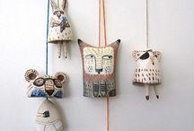 céramique carillon personnages