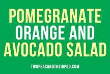 Salat  - appelsin